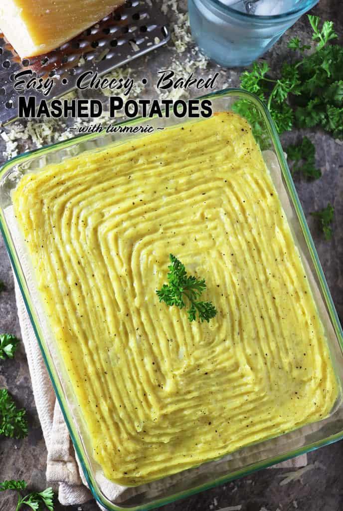 Easy Baked Cheesy Mashed Potatoes