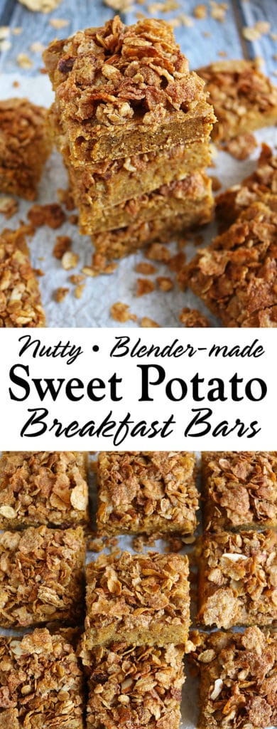 Easy Blender Made Nutty Sweet Potato Breakfast Bars With Post Cereal