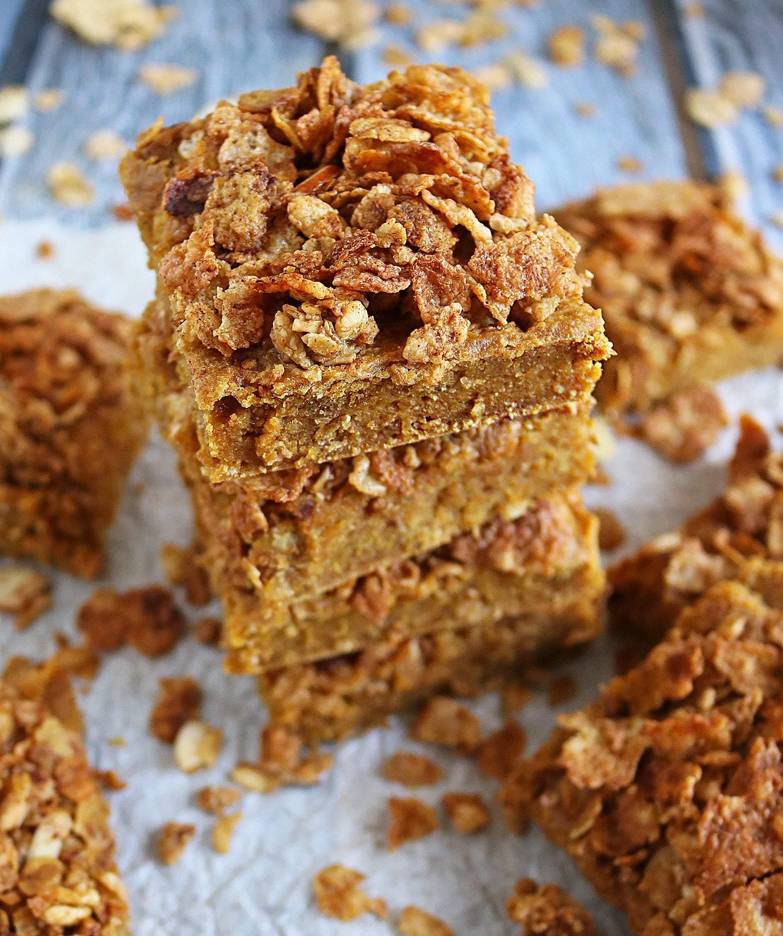 Easy Blender Made Nutty Sweet Potato Breakfast Bars