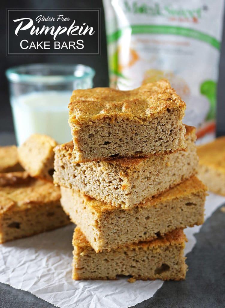 Easy Gluten-Free Pumpkin Cake Bars
