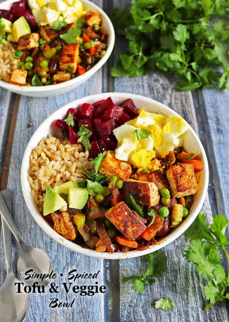Simple Spiced Tofu Veggie Bowl