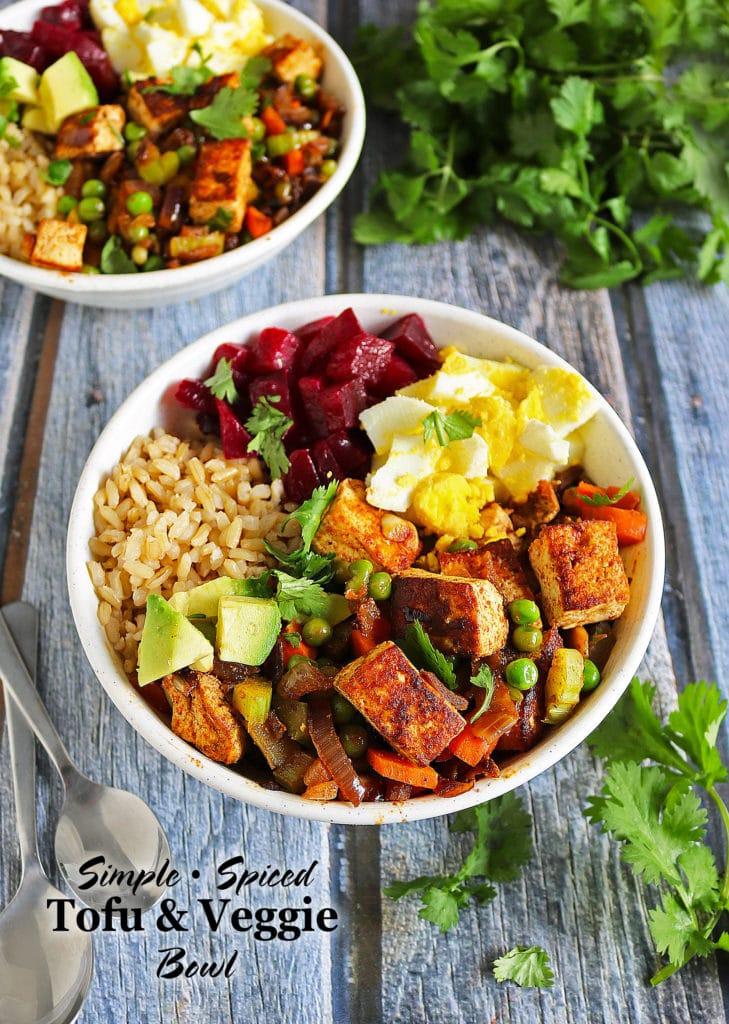 Simple Spiced Tofu Veggie Bowl