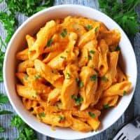 Easy, Creamy, Coriander-Spiced, Butternut Squash Pasta