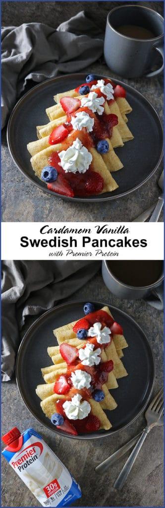 Cardamom Vanilla Swedish Pancakes with Premier Protein #TheDayIsYours