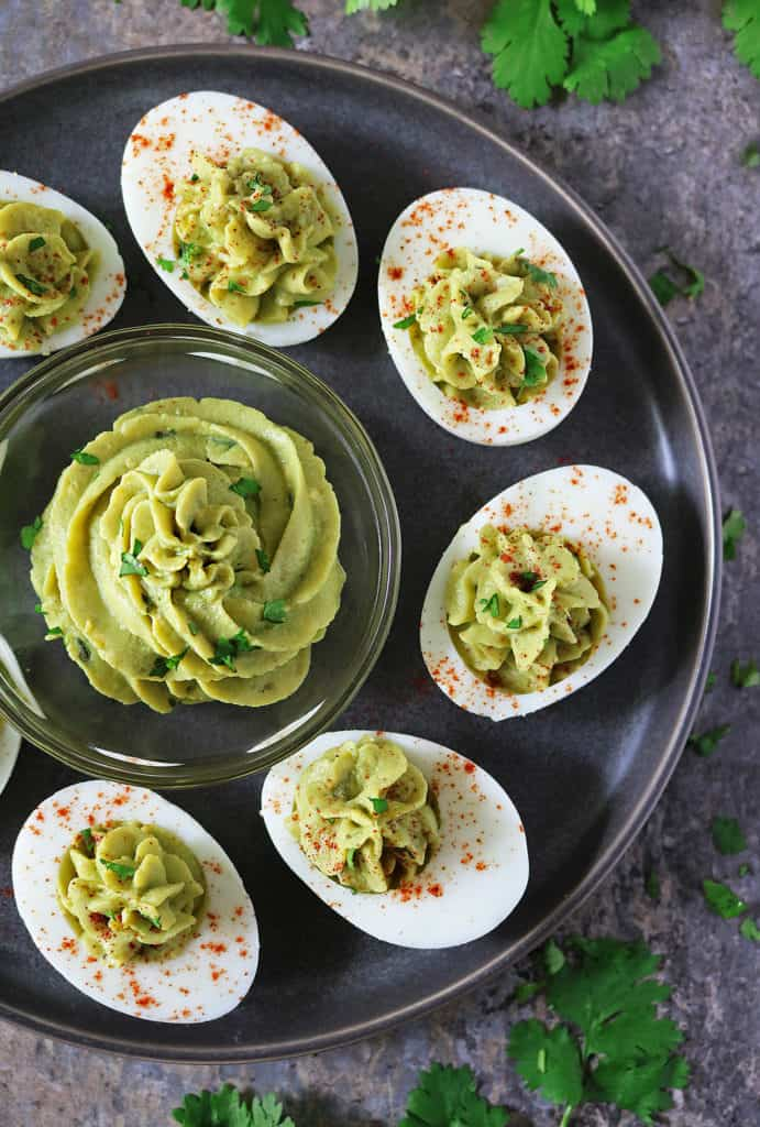Devilled Avocado And Garlic Eggs #SimplyAvocado