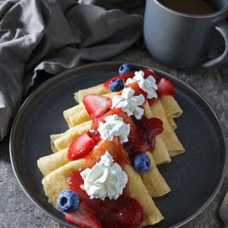 Easy Cardamom Vanilla Swedish Pancakes