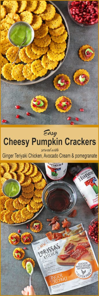 Easy Cheesy Pumpkin Crackers #SnackHonestly