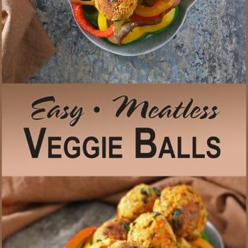 Easy Meatless Veggie Balls For Christmas
