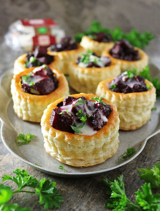 Easy French Goat Cheese Puff Pastry Stacks