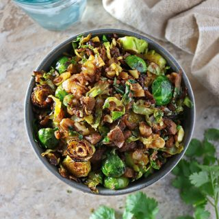 Hearty Sauteed Brussels Sprouts 'N Crumbles - Christmas or Thanksgiving Appetizer or Healthier Side