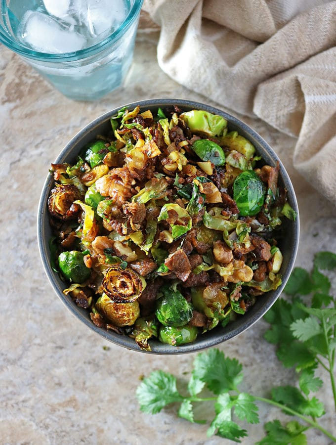 Hearty Brussels Sprouts 'n Crumbles – A Vegetarian Holiday Side.