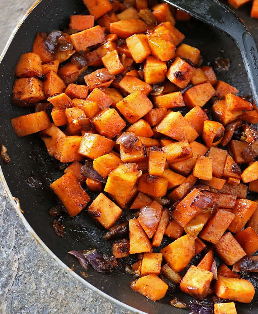 Honey Chili Sweet Potatoes