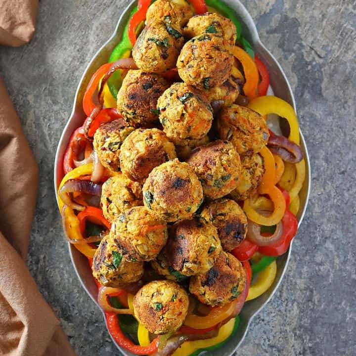Easy Meatless Veggie Balls For Vegetarian Holiday Guests