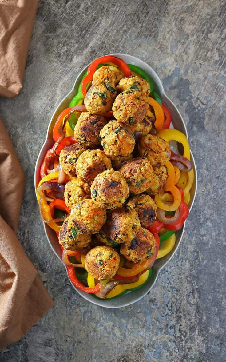 My Favorite Easy Meatless Veggie Balls For Vegetarian Holiday Guests!