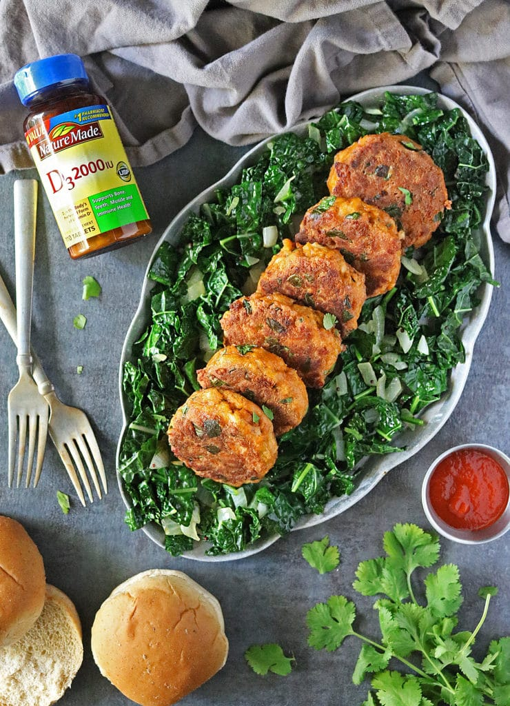 Salmon Spinach Burgers