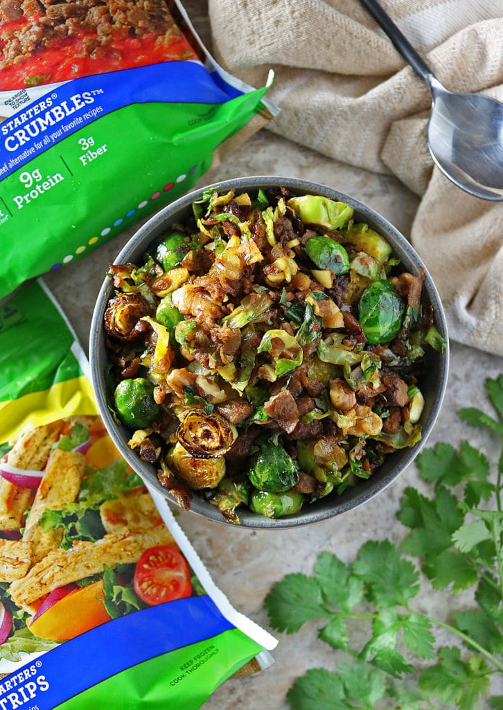 Sauteed Brussels Sprouts With Walnuts And Crumbles