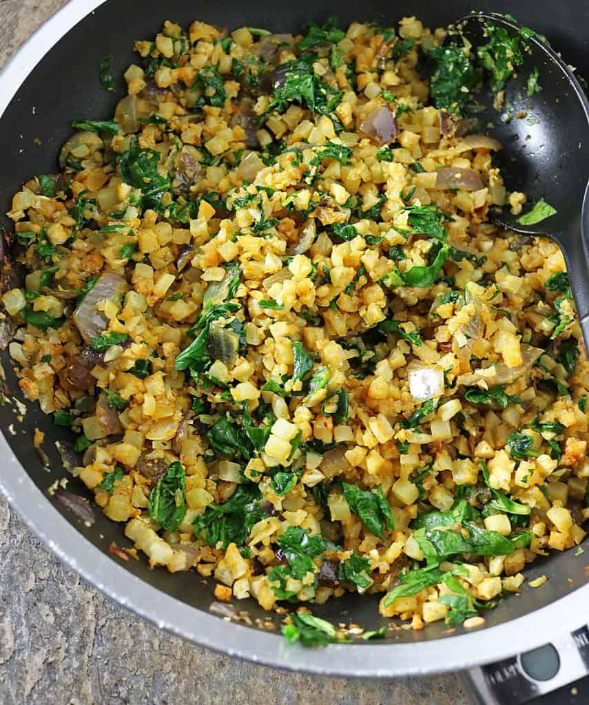 Turmeric Cauliflower And Greens