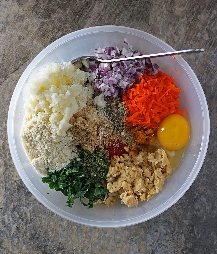 Veggie Meatless Balls Preparation