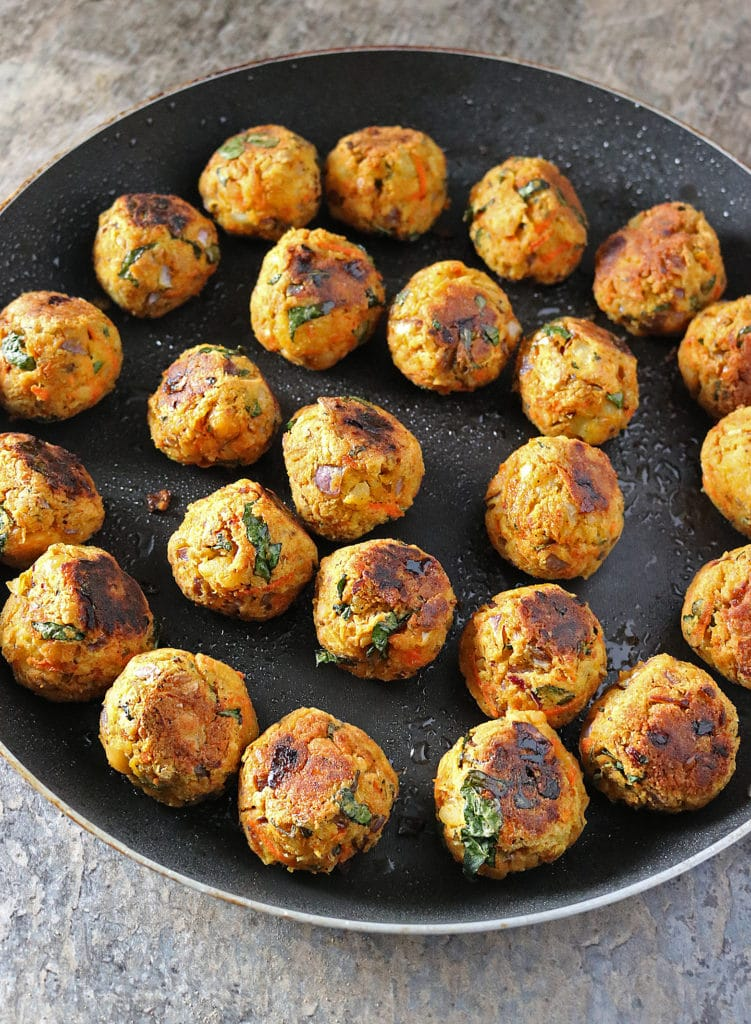Veggie Meatless Balls Quick Saute