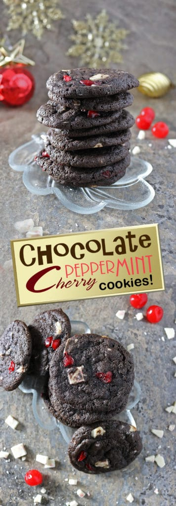 Chocolate Peppermint Cherry Cookies Cookies-For Kids Cancer #sweetestseasoncookies #TisTheSeason #BeAGoodCookie #Cookies4Kids