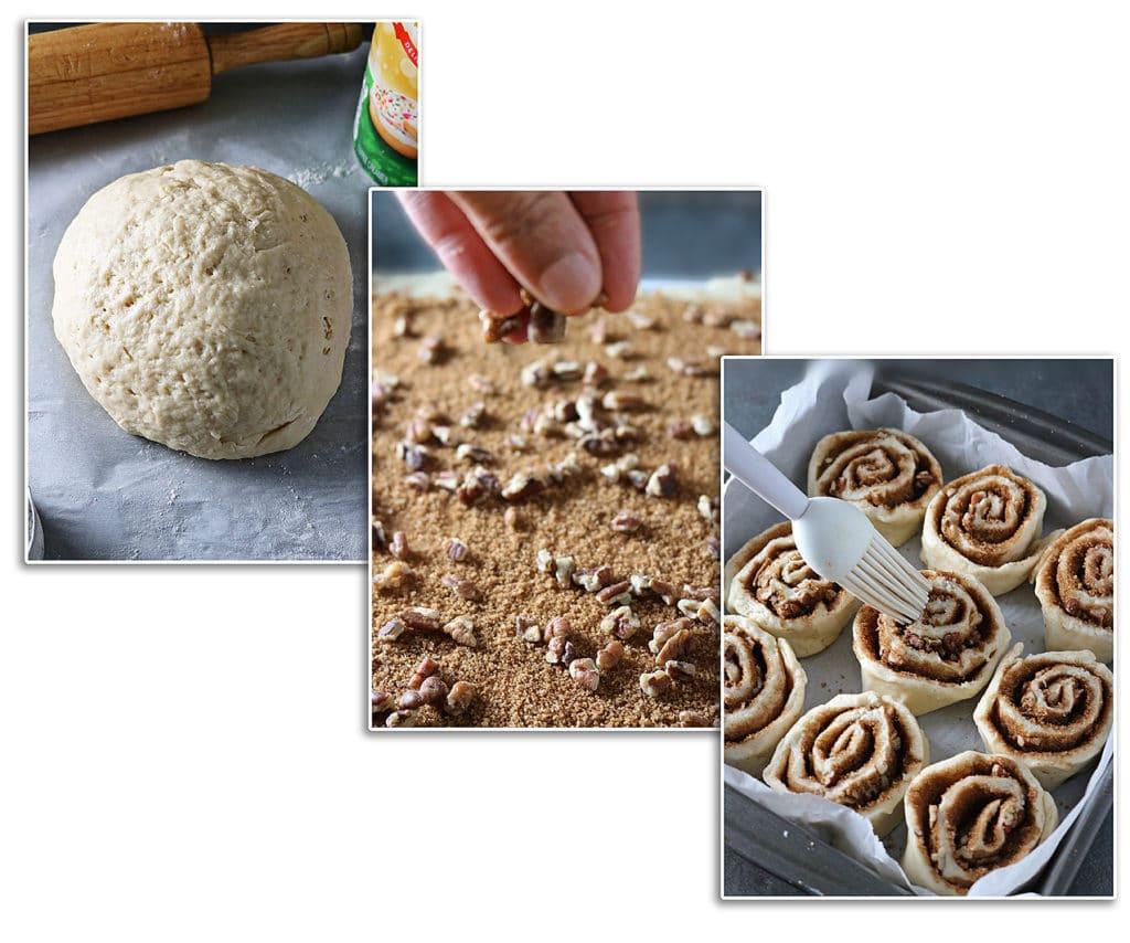 Yeast-Free Cinnamon Rolls Process