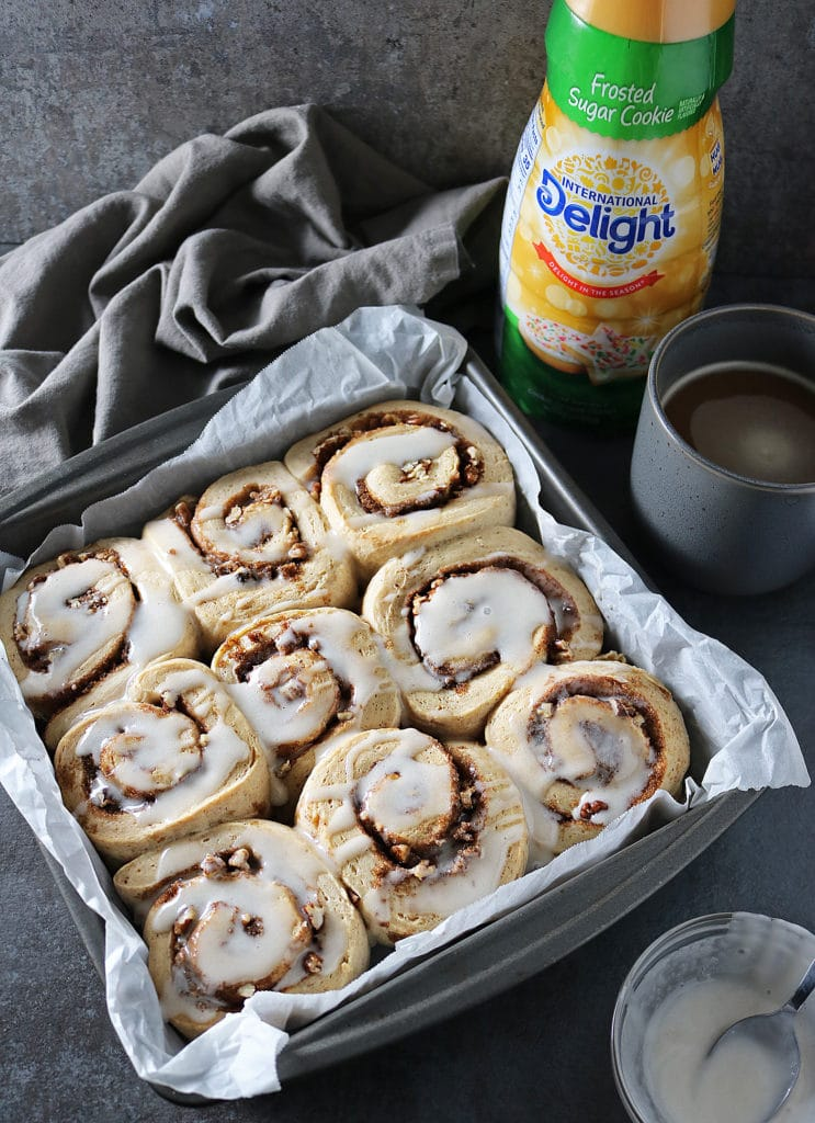 Cinnamon Rolls With Yeast And International Delight® Coffee Creamer