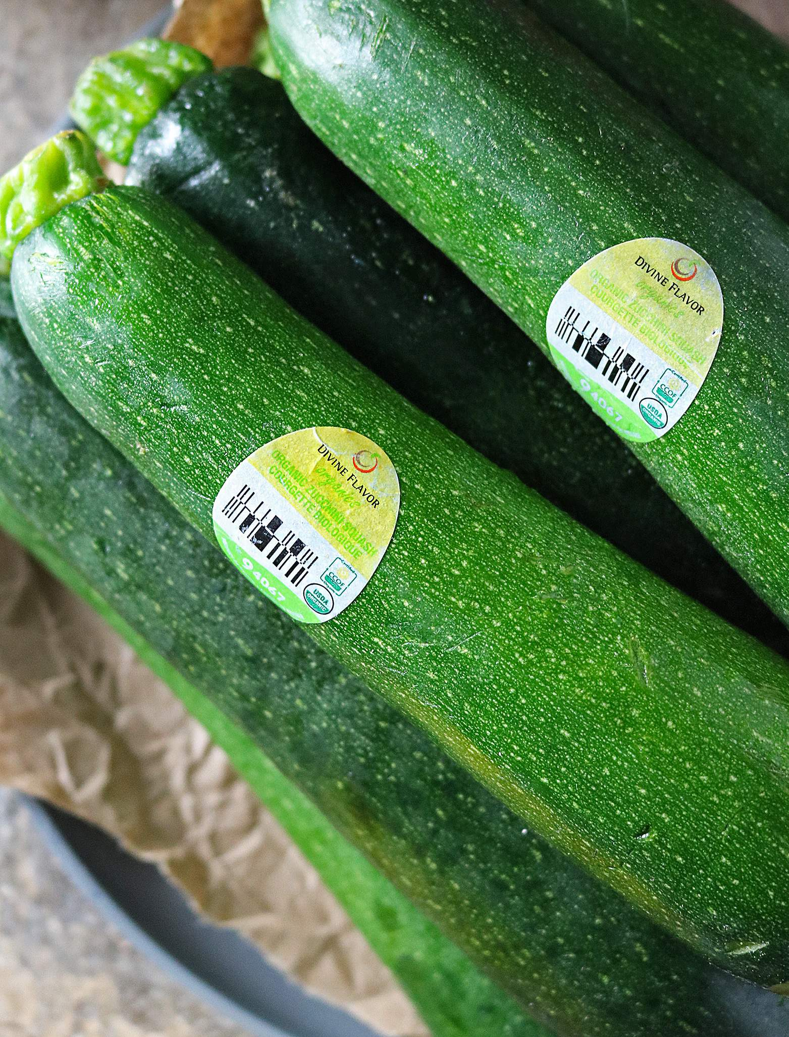 Divine Flavor Organic Zucchini