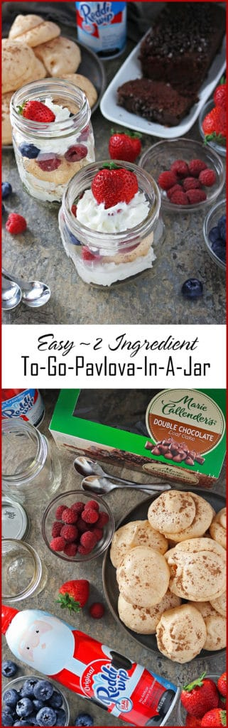 Easy 4 Ingredient To Go Pavlova #ServingUpTheSeason