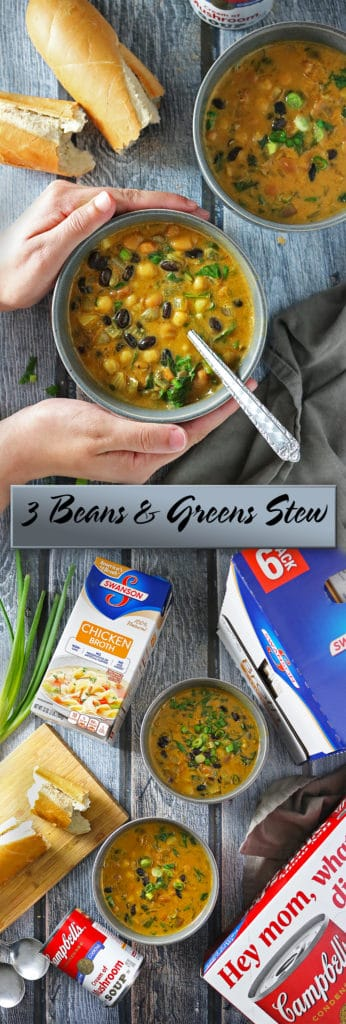 Easy 3 Beans And Greens Stew #Homemade4TheHolidays