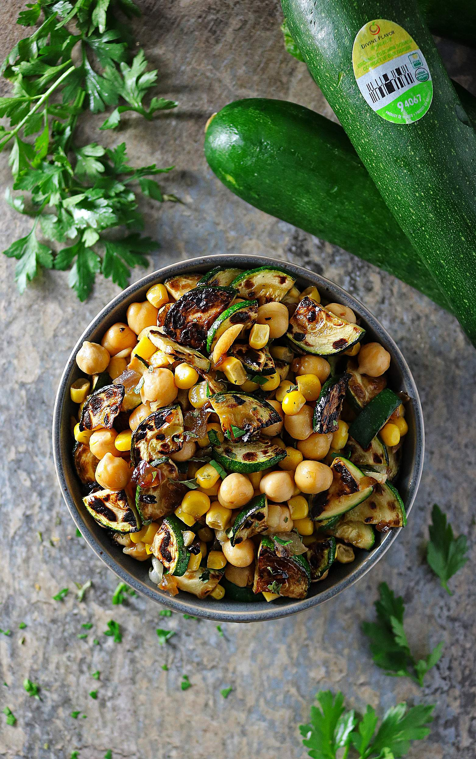 Easy 5 Ingredient Charred Zucchini And Caramelized Onion Salad