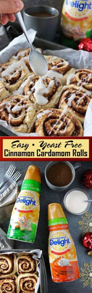 Easy Cinnamon Cardamom Rolls Without Yeast #DelightfulMoments #CBias