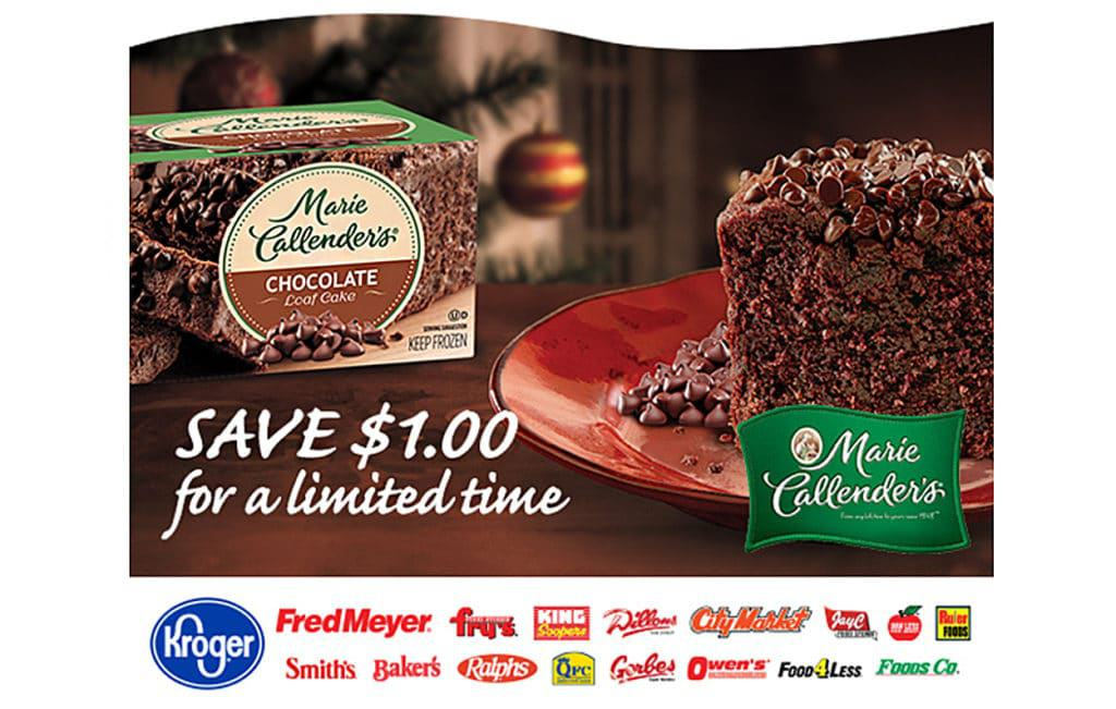Marie Callender's® Double Chocolate Chip Loaf Cake Offer