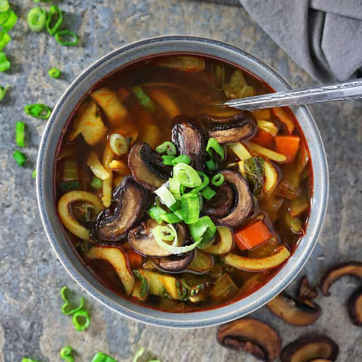 Udon Soup With Chipotle Peppers