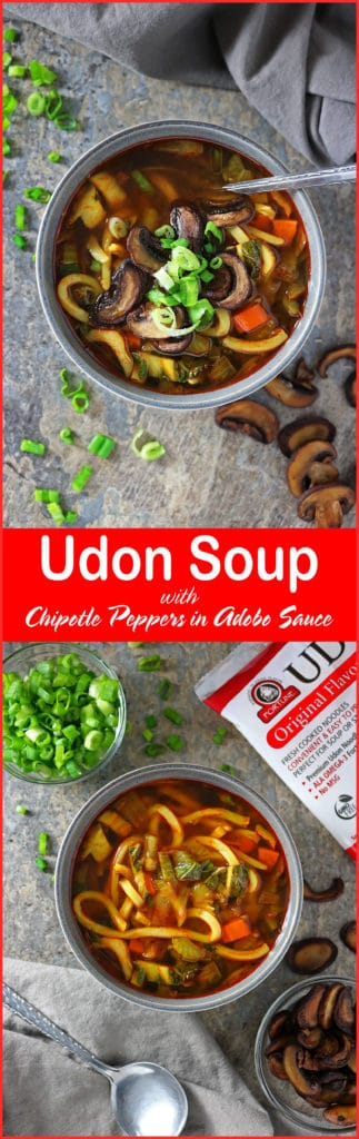 Udon Soup With Chipotle Peppers In Adobe Sauce #Fortune #ChefYaki