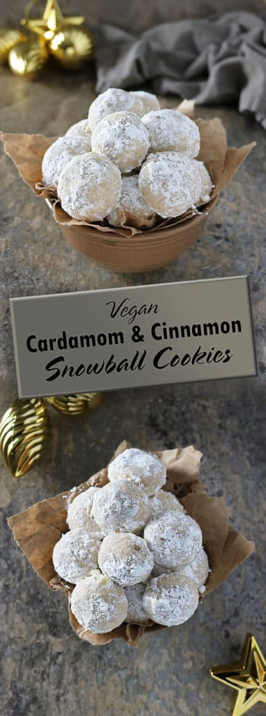 Vegan Snowball Cookies With Cardamom Cinnamon #IncredibleBulkBinTreatExchange #sponsored