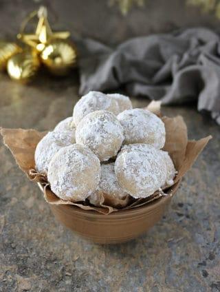 Vegan Cardamom Cinnamon Snowball Cookies