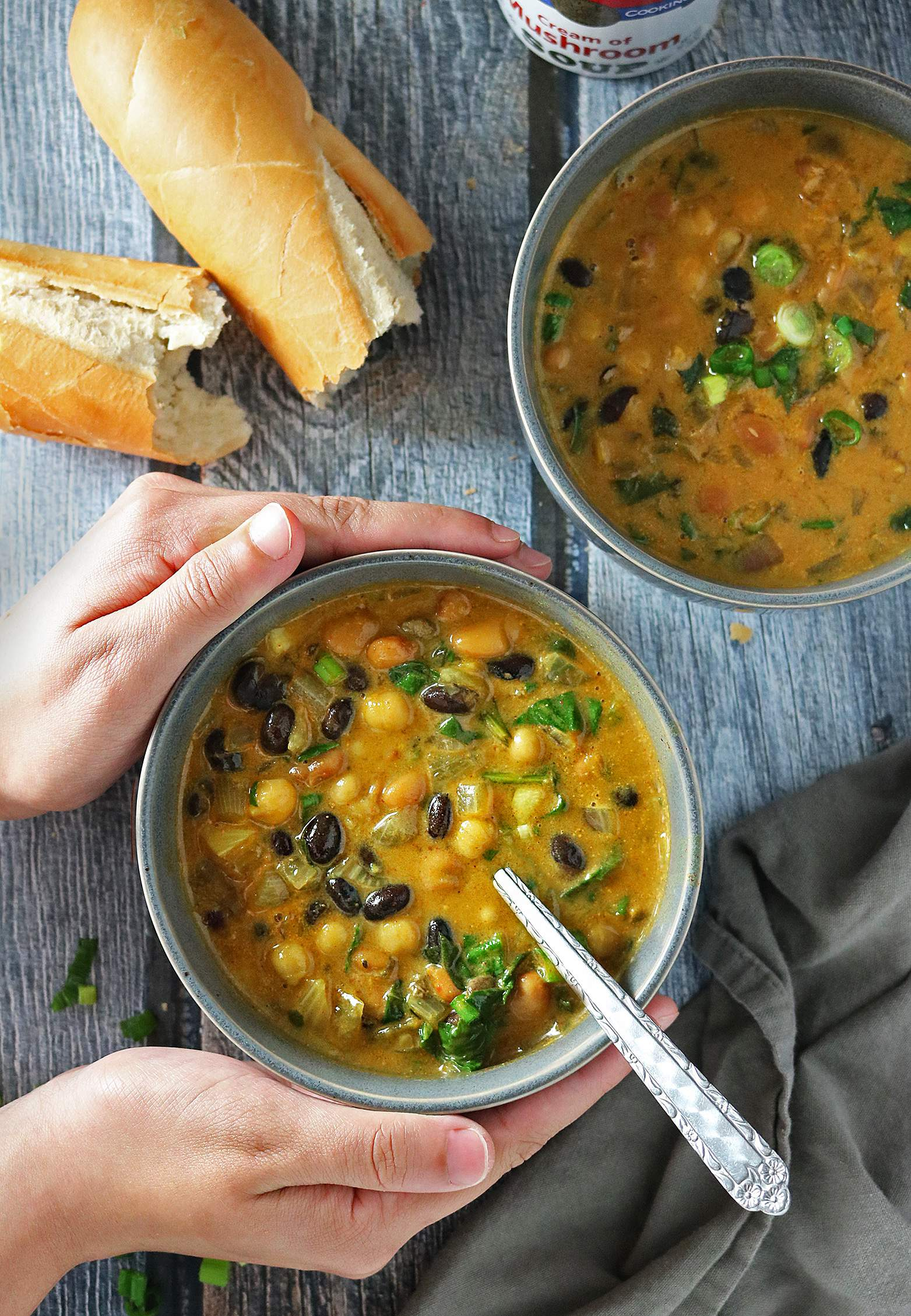 Warming 3 Beans And Greens Stew