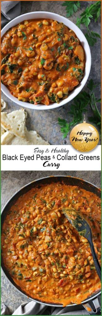 Happy New Year Black Eyed Peas Collard Greens Curry
