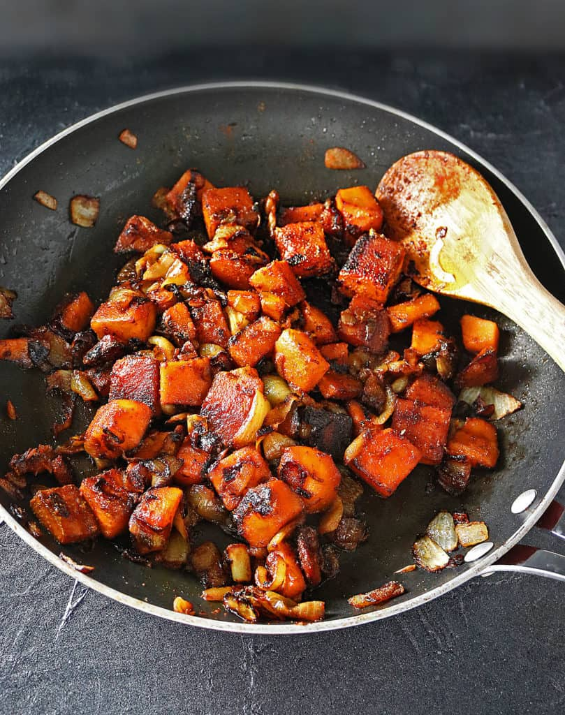 Curried Butternut Squash Caramelized Onions