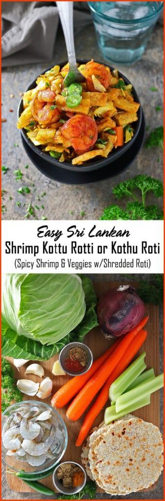 Easy Sri Lankan Shrimp Kottu Roti