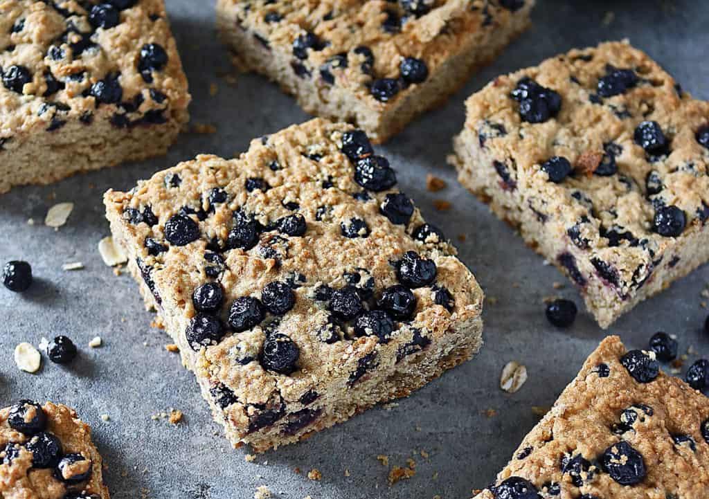 Gluten Free Refined Sugar Free Blueberry Bars