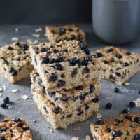 Easy Blender-Ready Blueberry Bars {Gluten Free • Refined Sugar Free}