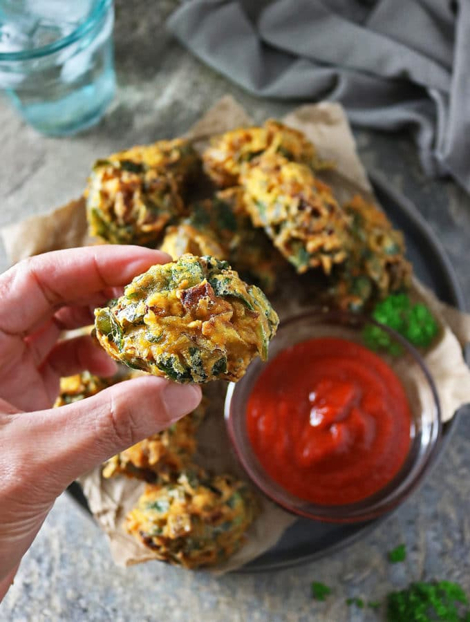 "Spinach Fritters aka ""Spinach Pakoras"""