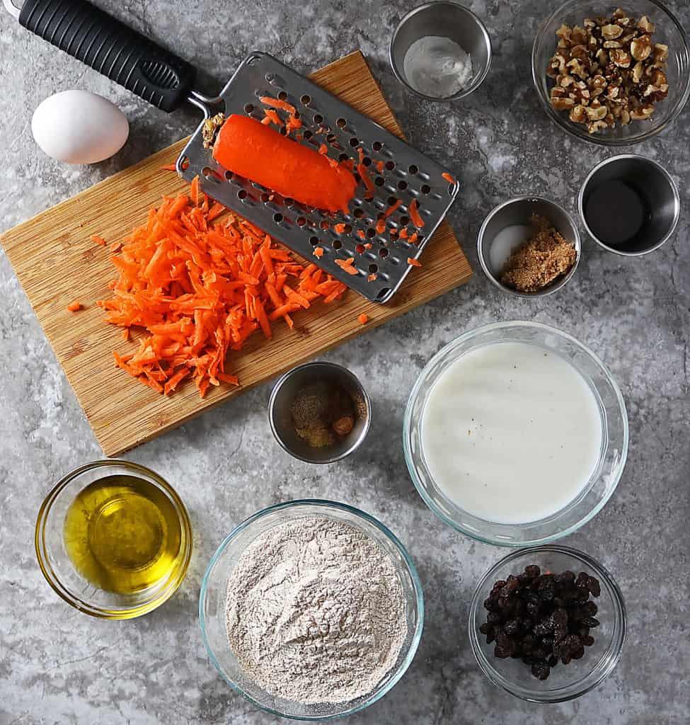 Carrot Cake Waffles Ingredients
