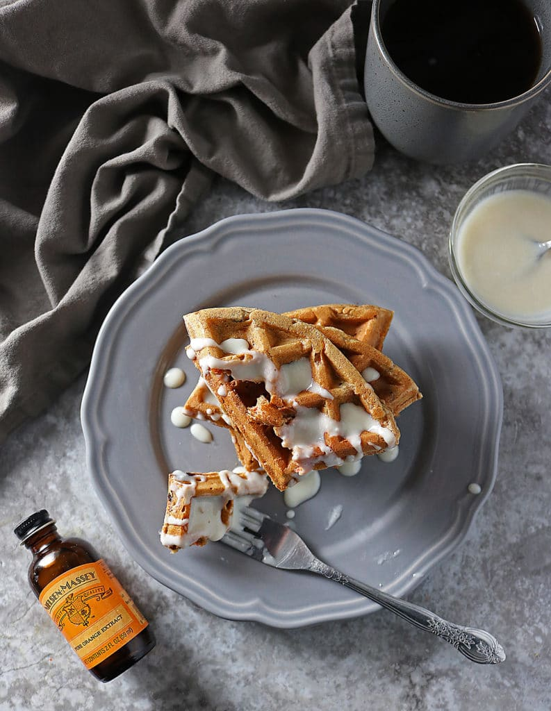 Carrot Cake Waffles With Nielsen Massey