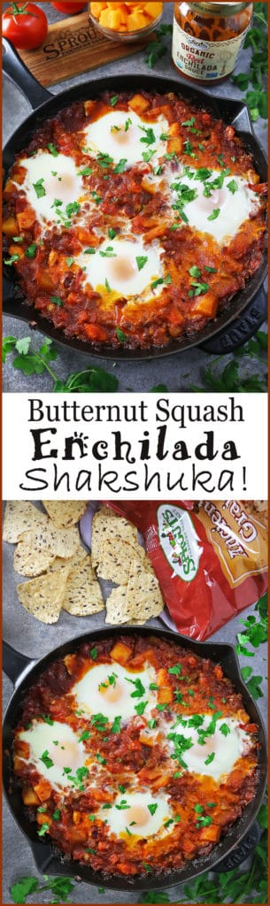 Easy Butternut Squash Enchilada Shakshuka With Sprouts Red Enchilada Sauce