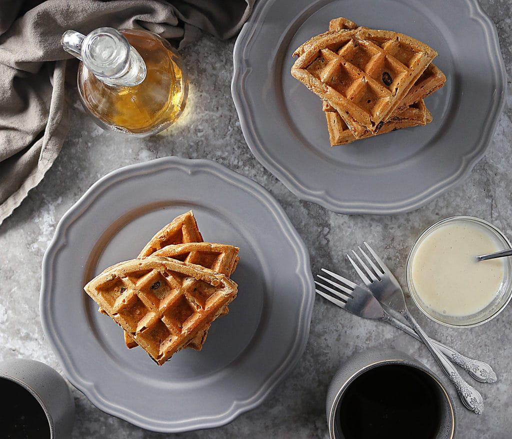 Easy Carrot Cake Waffles For Easter
