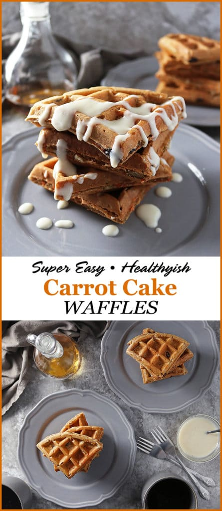 Healthyish Carrot Cake Waffles For #Easter #Weekends @NielsenMassey #NielsenMassey