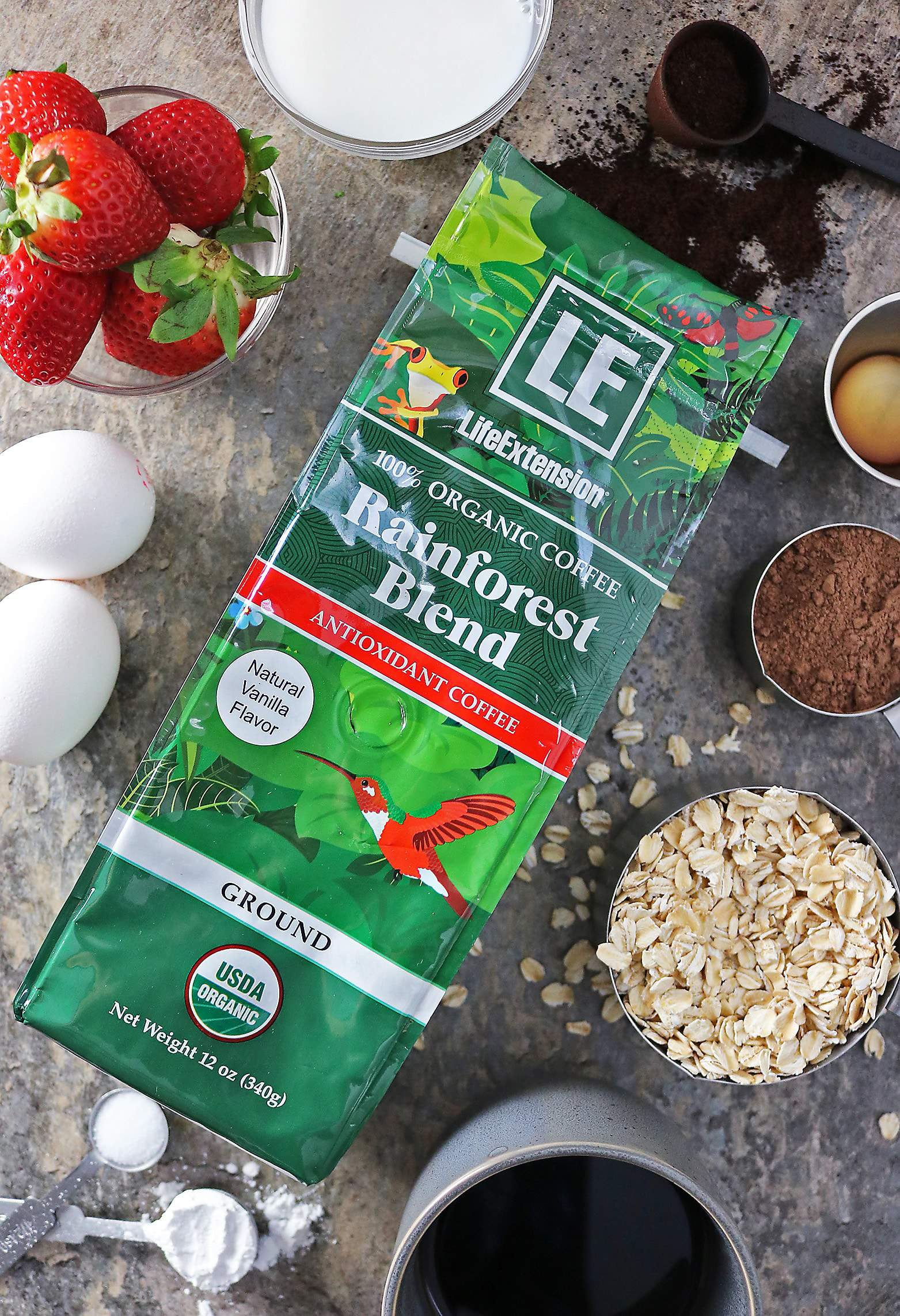 Life Extension Organic Antioxidant Rainforest Blend Coffee