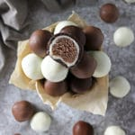 Easy, Dairy Free, 4-Ingredient Chocolate Caramel Bites